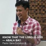 Knowing That The Lord is God –– Abala Ba?
