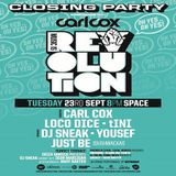 Carl Cox (Global 602) - Live at Music Is Revolution Closing Party, Space (Ibiza) - 23-Sep-2014