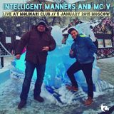 Intelligent Manners & MC V - Live at Molinari Club, Moscow 05.01.2015