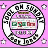 Soul On Sunday Show 16/09/18, Tony Jones on MônFM Radio * 1-2-3 * F R E N C H - POOLSIDE * S O U L *