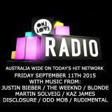 onelove radio Friday September 11th 2015