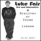 Luke Fair - 20070721 - Live @ Ministry of Sound, London, part 1