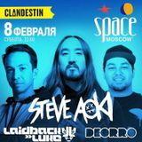 Steve Aoki b2b Deorro - Live @ Space Moscow - 08.02.2014