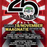"""DJ Ghost at """"25 Years Bonzai"""" @ Waagnatie (Antwerpen - Belgium) - 18 November 2017"""