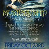 "Meta Zen live mix at  Heartbeat Silent Disco ""Mystery Ship"" Masquerade Party 10/23/15"