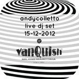 andycolletto live @ vanquish milano marittima 15-12-2012