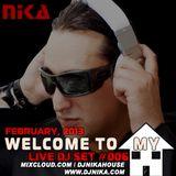 WELCOME TO MY HOUSE (LIVE DJ SET 006) DJ NIKA (FEBRUARY, 2013)