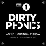 Dirtyphonics (AudioPorn Records, Dim Mak Records) @ Annie Nightingale Show, BBC Radio 1 (07.09.2013)