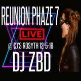 """DJ ZBD LIVE @ REUNION PHAZE 7 """"CJ'S ROSYTH 12-5-18"""""""