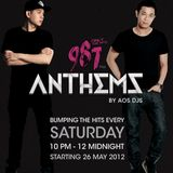DJ Andrew T 1st Set of 987 Anthems with AOS DJs 16 June 2012