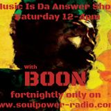 Music Is Da Answer Show with Boon - 101118