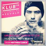 Klub FM / RMF Maxx 19.09.2013 Matthew Clarck Live!