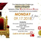 TRC   WHEN THE RIGHTEOUS RULE.  ACCUSATIONS, AUTHORITY & ACCOUNTABILITY