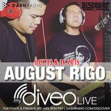 August Rigo mydiveo LIVE on Dash Radio