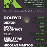 Nicolas Martos @ Barkode Amsterdam 16.11.2012 Organized by Kraft - Indeep'n'dance records