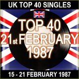 UK TOP 40 15-21 FEBRUARY 1987