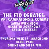 FTO Election Debates 2017 - VP: Campaigns and Communications