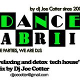 relaxing and detox tech house - mix by dj joe cotter