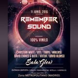 David Alonso @ Remember Sound (Sala Glow, Madrid) 11.06.2016