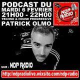 PODCAST 06/02/2018  On NDP RADIO - Mix Techno & House Progressive Mixed By Patrick Olmo