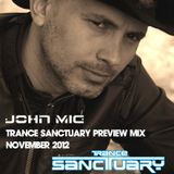 Trance Sanctuary Preview Mix by John Mig November 2012