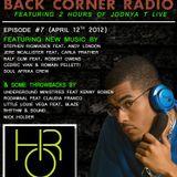 BACK CORNER RADIO: Episode #7 (April 12th 2012)