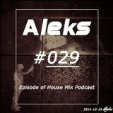 Aleks #29 Episode of House Mix Podcast 2014-12-25 [FREE DL]