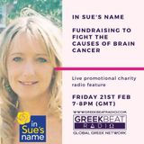 Brain Cancer Charity 'In Sue's Name' - Radio Feature for awareness and Greek Night fundraising event