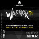 29/11/2018 - Jammz Warrior 2 Listening Party W/ Lozzy C, Tiatsim & Special Guests - Mode FM