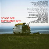 SONGS FOR SEPTEMBER 2016