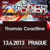 13.04.2013 - Thomas Coastline @ Trancefusion Ocean of Love - Industrial Palace Prague (CZ)