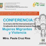 Conferencia: Mujeres Migrantes y Violencia
