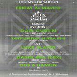 "DJ Deg at ""The Rave Explosion  Peacefrog Label Night"" @ Cherry Moon (Lokeren-Belgium)- 24 March 1995"