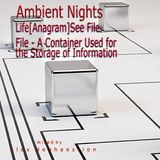 Ambient Nights - Life[Anagram] See File. File - A Container Used for the Storage of Information