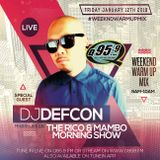 DJ DEFCON - MLK WEEKEND WARM UP MIX LIVE ON Q959FM - RICO & MAMBO MORNING SHOW