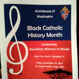 Bishop Roy Campbell, Jr. - 2017 Archdiocese of Washington Black Catholic History Month 11102017
