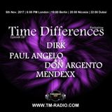 Mendexx - Guest Mix - Time Differences 287 (5th November 2017) on TM Radio