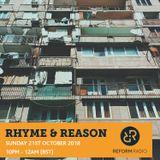 Rhyme & Reason 21st October 2018