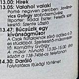 Csak fiataloknak!Komjáthy György kívánságműsora. Utolsó adás. 1993. 04.24. Petőfi rádió. 13.47-14.30