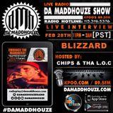 Blizzard calls into Da MaddHouze on KPOO 89.5 FM