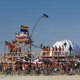 GlamCocks Beach Party Live Mix at Burning Man 2013