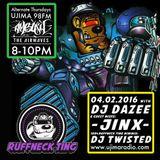 Dazee Presents The Ruffneck Ting Take Over 04.02.2016 with Guest Mixes From Jinx And Twisted