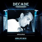Dj Arjuna in the mix for Decade the 10th edition 2-4-16