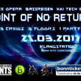Opening Set @ Point of no Return, Klangstation Bonn (25.03.17)