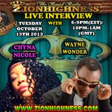 CHYNA NICOLE LIVE INTERVIEW WITH DJ JAMMY ON ZIONHIGHNESS RADIO 10-15-13