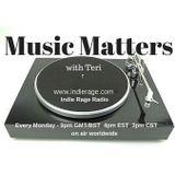 Music Matters 31(2/2) on Indie Rage Radio 23/01/17