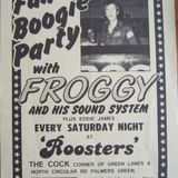 Froggy Live at Roosters Saturday 14th August 1982