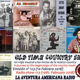 123- Old Time Country Shots (10 Febrero 2018)