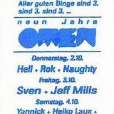 """Sven Väth & Jeff Mills at """"Neun Jahre Omen"""" @ Omen (Frankfurt - Germany) - 3 October 1997"""