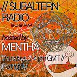 Mentha - Subaltern Radio 25/06/2015 on SUB.FM